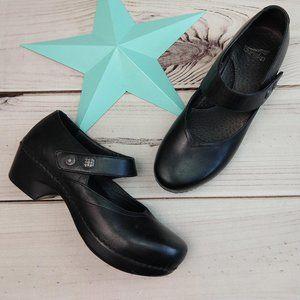 "Dansko ""Tandy"" Black Leather 40 Mary Janes"